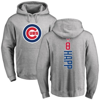 Men's Ian Happ Chicago Cubs Ash Backer Pullover Hoodie