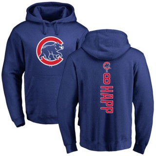 Men's Ian Happ Chicago Cubs Royal Backer Pullover Hoodie